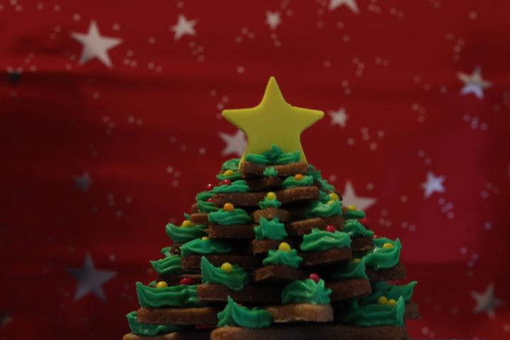 árbol de galletas de navidad